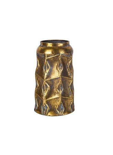 Acar Altın Eskitme Vazo 30Cm Altın